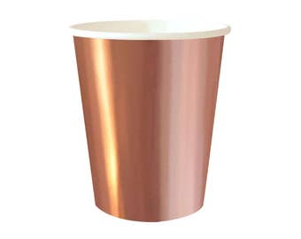 Rose Gold Party Cups, Rose Gold Cups, Rose Gold Partyware, Rose Gold Party, Rose Gold Cups, Rose Gold Shower, Rose Gold, Disposable Cups