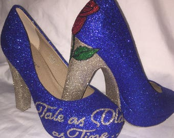 Disney Beauty And the Beast shoes / heels* * * uk sizes 3-8 * * *