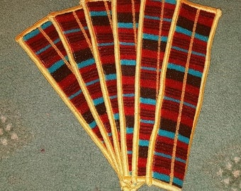 Genuine Moquette Bookmark - London bus Seat Material