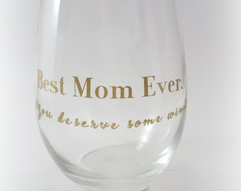 Funny Wine Glasses, Mom Wine Glass, Gift for Mom, Wine Gift, Birthday Gift, Wine Lover Gift,Birthday for Mom, Mom Glass