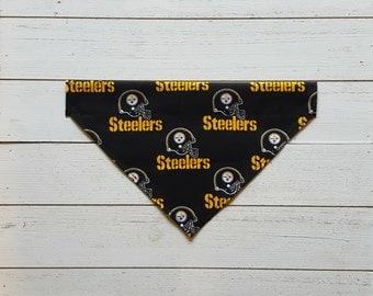 Steelers Dog Bandana, Over the Collar Dog Bandana, Football, Pittsburgh