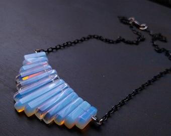 Opalite Fan Necklace