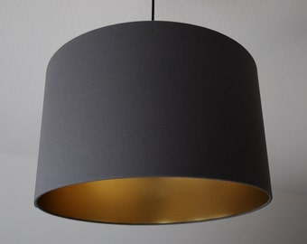 "Lampshade ""Graphite / gold"""