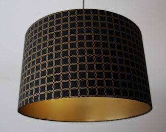 "Lampshade ""Glitter circles-gold"""