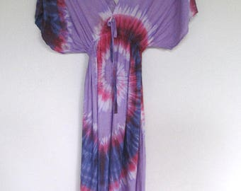 Handmade Tie Dye Rayon Rainbow Sundress