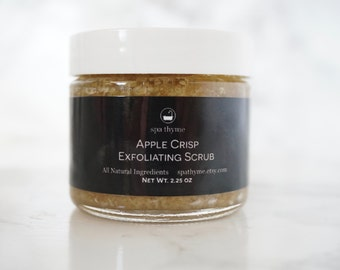 Apple Crisp Exfoliating Body Scrub- 2 ounces | Bath and Body Products | Spa Products | Facial care