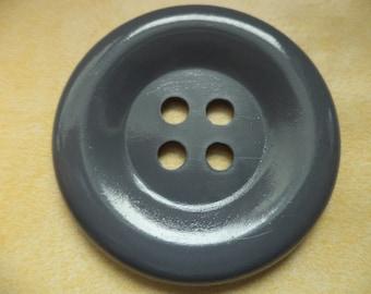 big button (946) buttons coat buttons grey 50mm 5 cm