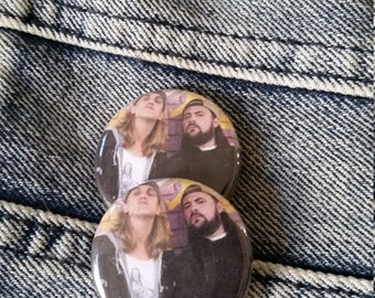 Jay and Silent Bob Handmade 1-1/4 inch pinback button pin pins buttons pingame badge badges