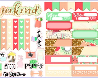 Hello Summer- A La Carte Sticker Sheets