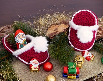 ebook: Santa's Slippers Crochet Pattern