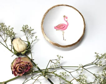 Flamingo Jewelry Dish / Graceful / Spirit Animal / Power Animal / Custom Ring Dish / Personalized / Bridesmaids Gift / Gifts for Her