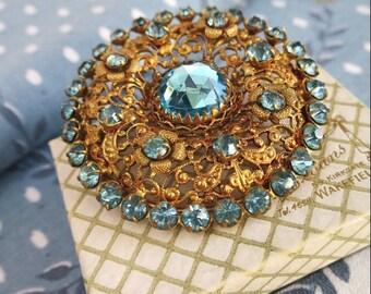 Vintage Jewellery, Czecho Brooch, Signed Czecho Pin, Czecho Jewellery, Czech Vintage Brooch, Rhinestone Brooch, Art Deco Brooch, Art Deco