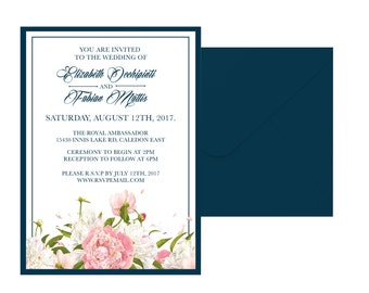 Classic Floral Wedding Invitation Suite