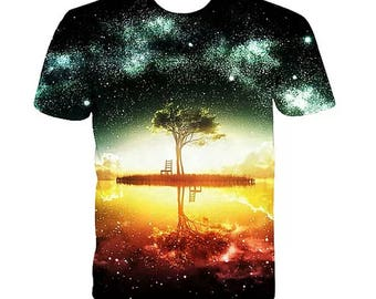 Kosmic 3d TShirts Pre-Sale Kosmic Trees. As Above So Below 3d Shirt. Kosmic Tree of Life