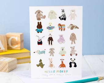 Personalised New Baby 'Hello World' Card