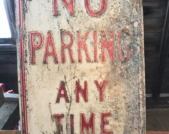 Vintage No Parking Sign