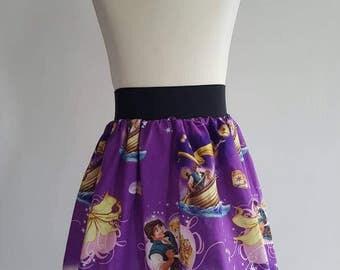 Kids Rapunzel Inspired Full Skater Skirt