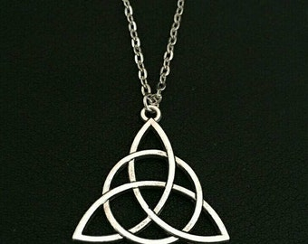 Triquetra pendant with chain