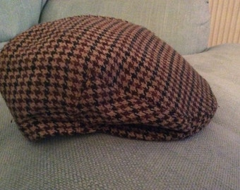 Vintage Peebles Tweed Flat Cap