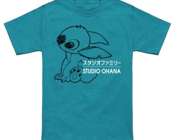 STUDIO STITCH Disney Cartoon Experiment 626 Lilo Japanese Geek T-Shirt Anime Nerd Shirt