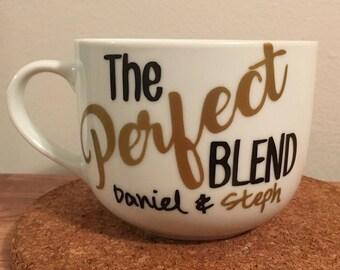 The perfect blend - Couples mug. - couple gift set