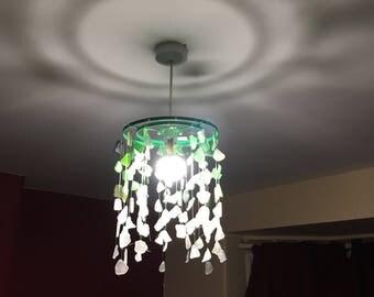 Sea glass chandelier | Etsy