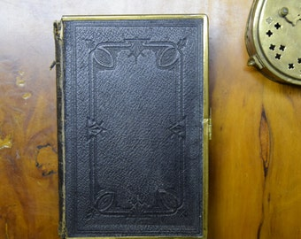 Antique Leather Bound  Welsh Bible, Dated 1894