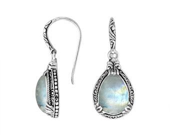 bali moostone sterling silver earring