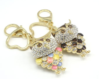 Cute Owl Keyholder Pure Handmade Key Chain Handbag Accessory For Women