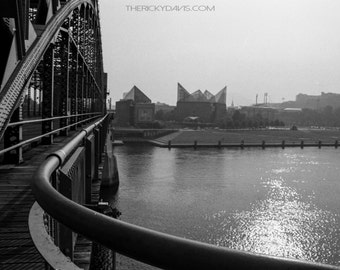 Downtown Chattanooga - Tennessee - Market Street Bridge - Black and White Film Photography