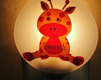 Personalized Giraffe Night Light