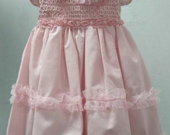 Pink Infant-Toddler Dress-Handmade