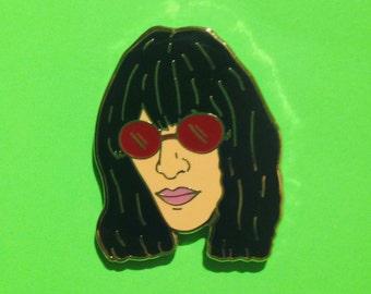 """Joey Ramone 1"""" Hard Enamel Pin Punk Rock Nostalgic"""