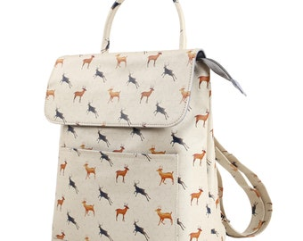 TaylorHe Backpack Rucksack Carry On Bag  Zipped Top Magnificent Stags.