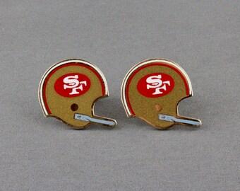 Vintage San Francisco 49ers NFL Football Helmet Cufflinks