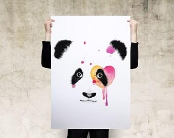 Panda Watercolor Art Print
