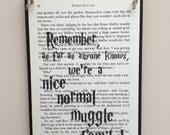 Harry Potter Book Inspired Wall Hanging Plaque Merchandise Picture Sign Various Designs Bookish Birthday Gift Housewarming New Home