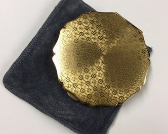 Vintage Gold Tone Stratton Compact  Mirror