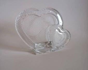 Mikasa Polished Portraits Double Heart Photo Frame  Crystal Photo Frame