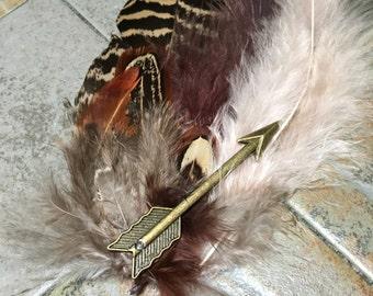 Wild Arrow feathered hair clip