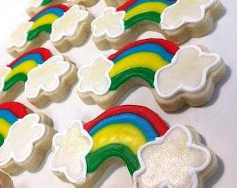 Rainbow Sugar cookies, Unicorn Party