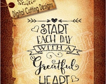 Greatful Heart Svg, Heart svg, Arrow svg,Day SVG DXF PNG and Eps Instant Download Digital Vector Cut File  Scrapbook Htv Silhouette Cricut