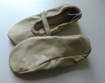 Ballet slippers  leather beige