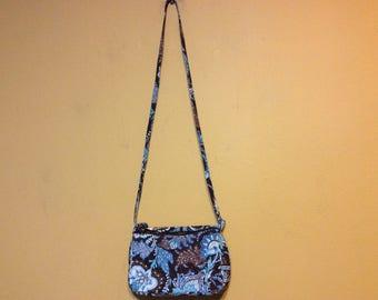 Vera Bradley Retired Mini Shoulder Bag Color Java Blue