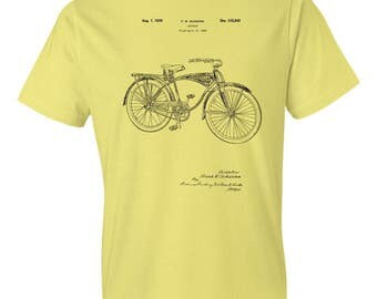 Schwinn Bicycle T-Shirt Patent Art Gift, Schwinn T-shirt, Schwinn Bike, Bicycle Patent, Bike Patent, Bicyclist Gift, Cycling Gift