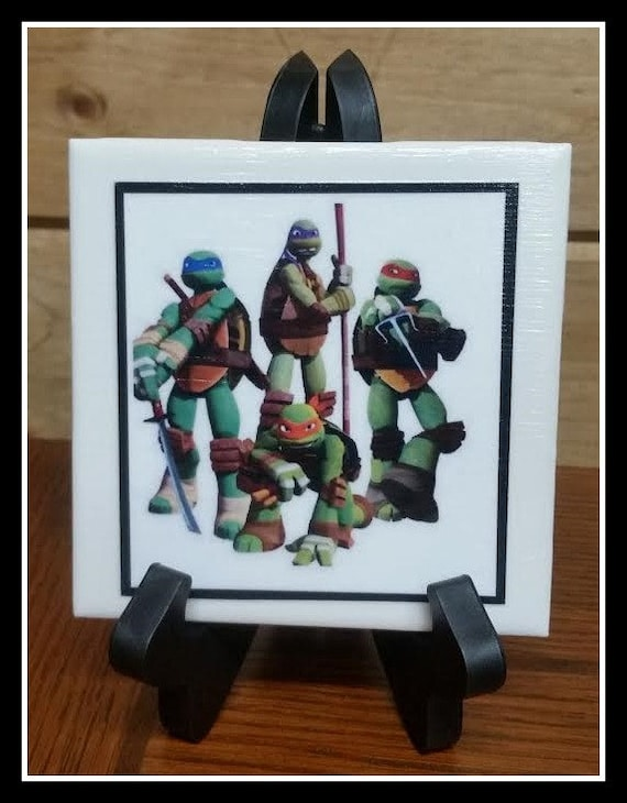Home decor ninja turtles cermic picture tile 1 4x4 with for Decoration 4x4