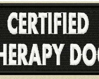 Therapy Dog Patch, Certified Therapy Dog