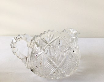 Cut Glass Pouring Jug & Bowl.