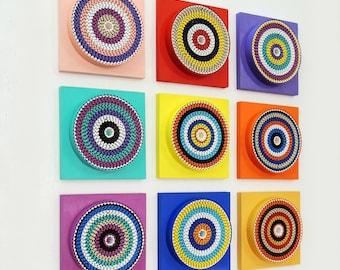 Spectrum - Abstract Wall Installation -Geometric- 3D Wall Art - Modern Art - Home Decor - Contemporary - Wall Accent - AV12