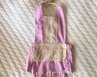 Gorgeous Boho Fringed Romper Lilac 3-6 Months - 12-18 Months